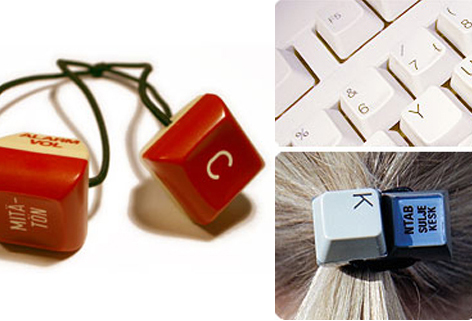 computer key hairbands